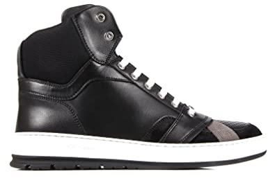 e96a581f6ed Dior Chaussures Baskets Sneakers Hautes Homme en Cuir Noir EU 44 3SH041VKB