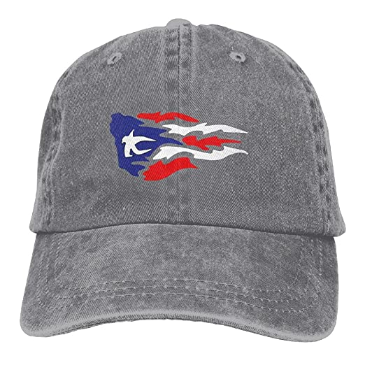 36ffbefe31fe Yueha Unisex Puerto Rico Wave Classic Washed Dyed Cotton Solid Color  Baseball Cap One Size