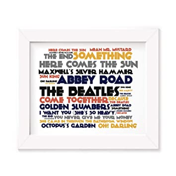The Beatles Poster Print - Abbey Road - Letra firmada regalo arte cartel: Amazon.es: Hogar