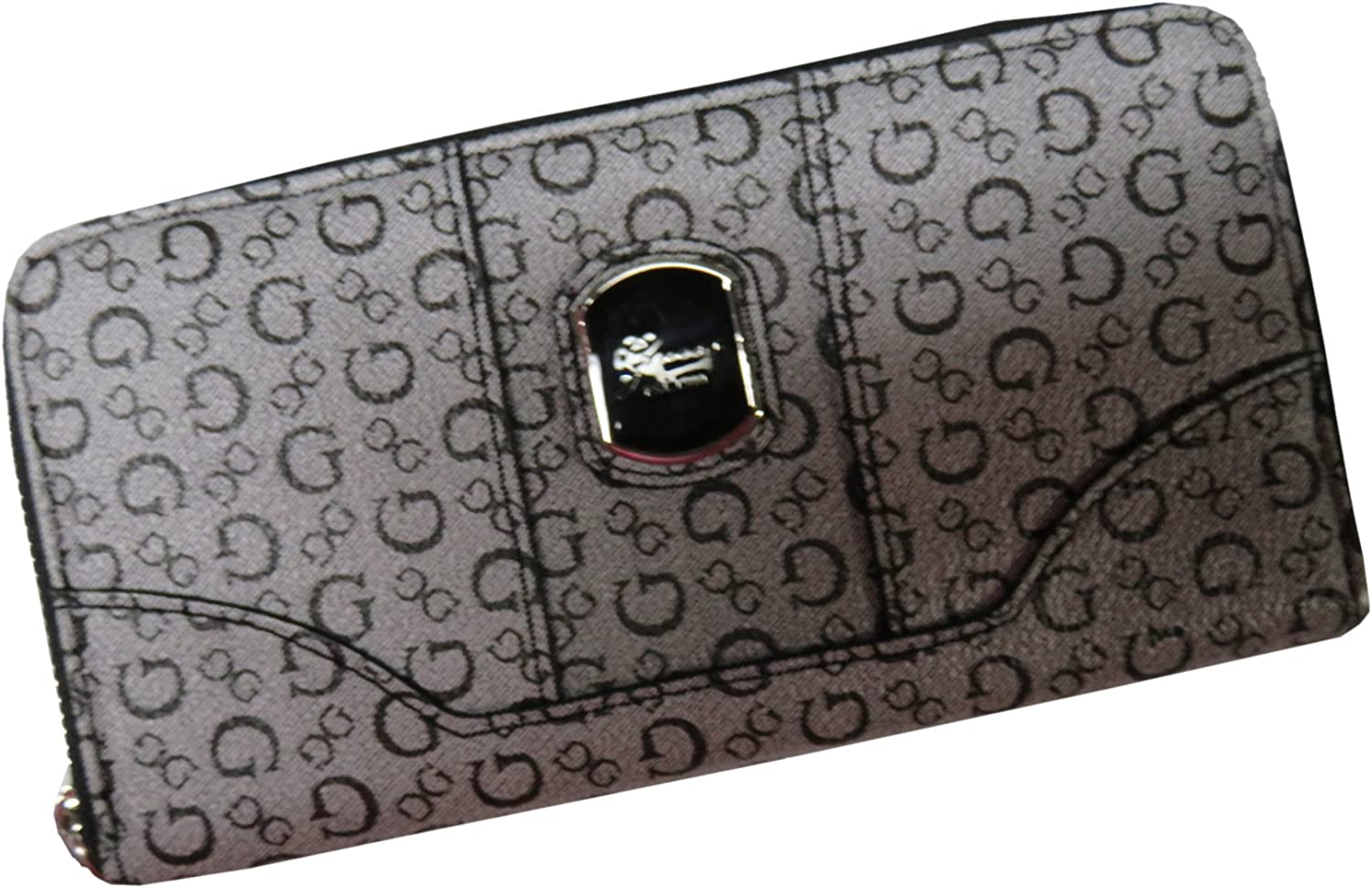 Guess Womens Zip Around Wallet Grand Haven Black