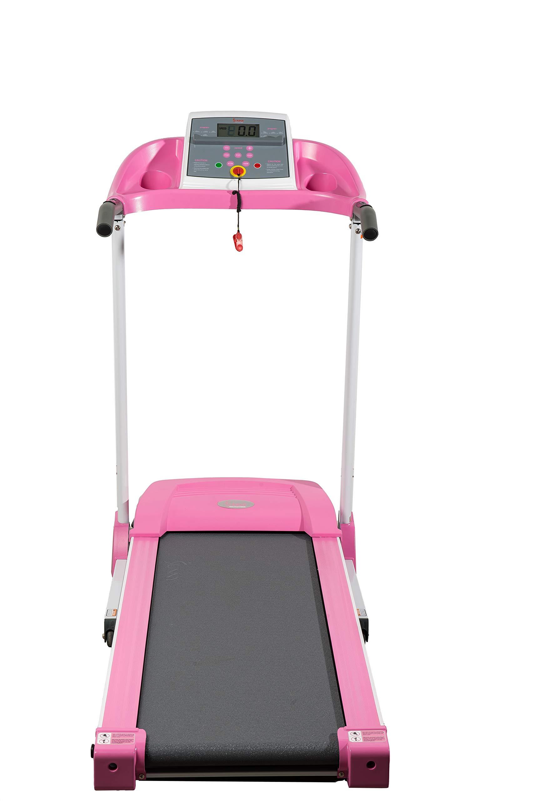 Sunny Health & Fitness P8700 Pink Treadmill by Sunny Health & Fitness (Image #9)