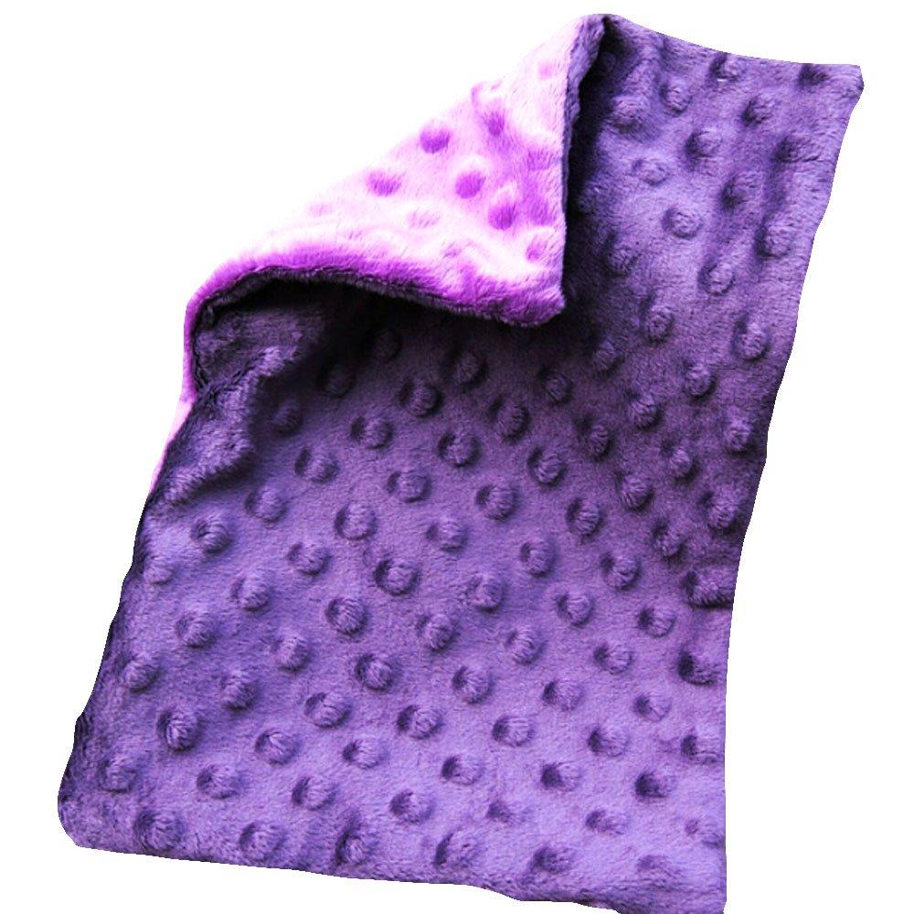WOMHOPE 12.6in x 19.6in - Double-sided Soft Minky Dot Baby Pillowcase Toddler Pillowcase Children's Pillowcases Nursery Pillowcases Travel Bedding No Ruffle (Dark purple & Light purple)