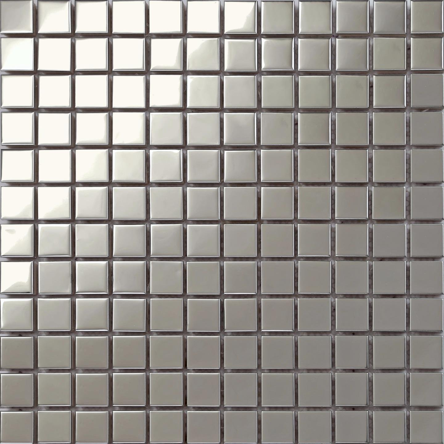 Grand Taps Polished Stainless Steel Mosaic Wall Tiles (MT0130) (11 Sheets)