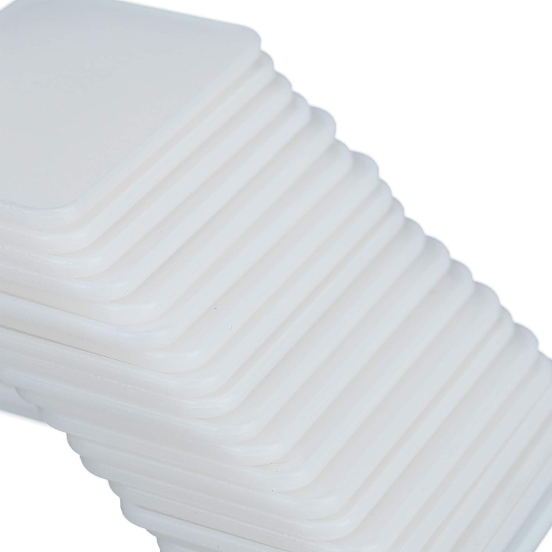 Relaxdays Set da 100 Etichette per Piante Targhette Identificative per Aiuole e Piantine HB 14,5x5,5 cm Plastica Pz Bianco PP