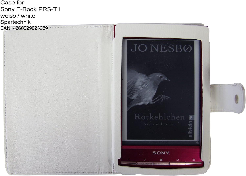 Spartechnik - Funda para e-reader Sony PRS-T1, color blanco ...