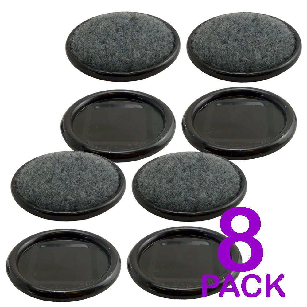 Pack of 8 - Heavy Duty Castor Cups - 70 mm Diameter - Great For All Types Of Flooring - Easy To Install Value 4 Money