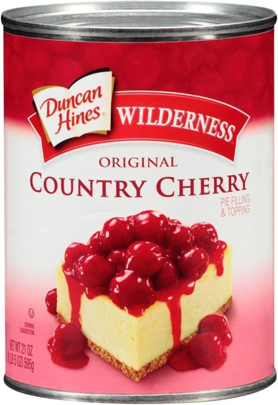 Wilderness Original Pie Filling and Topping, Country Cherry, 21 Ounce