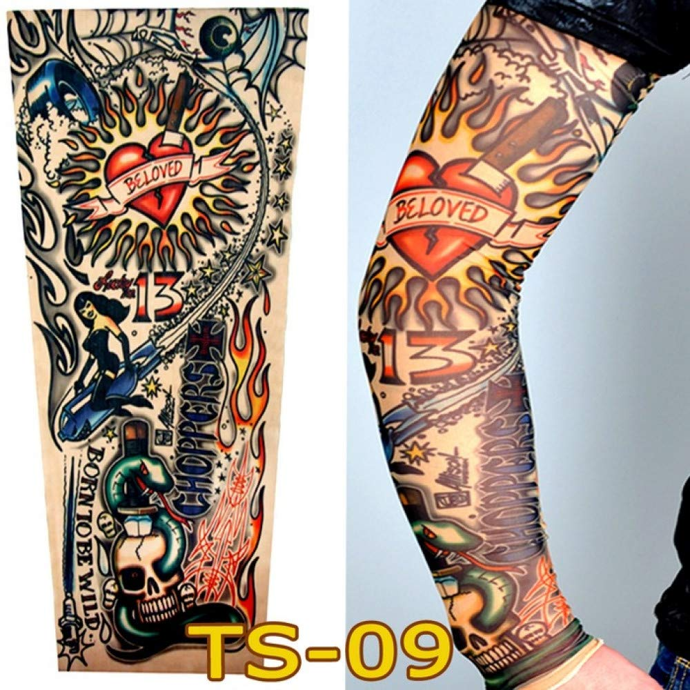 CXQ Verano Cubierta exterior Manga del tatuaje Flor Brazo Tatuaje ...