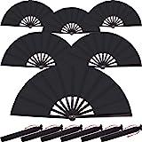 Large Folding Silk Hand Fan Hand Folding Fans Chinese Tai Chi Folding Fan for Men and Women Performance, Dance…