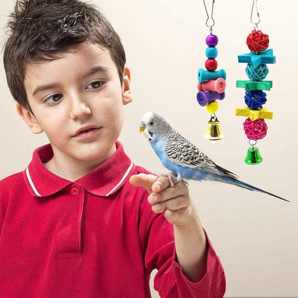 Minsa Specchio Gigante per pappagalli con campanella per pappagalli e Uccelli di Piccole e Medie Dimensioni