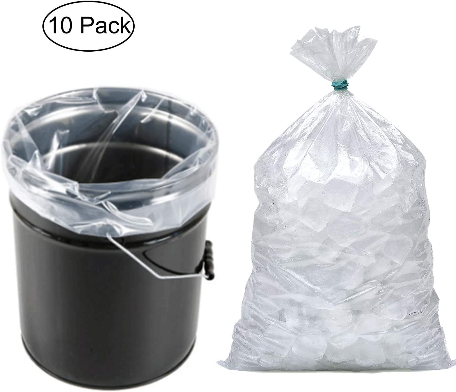 5 Gallon Bucket Liner Bags for Marinating and Brining, Food Grade, BPA Free, Great for Storage Food Extra Heavy Duty Leak Proof 10PCS