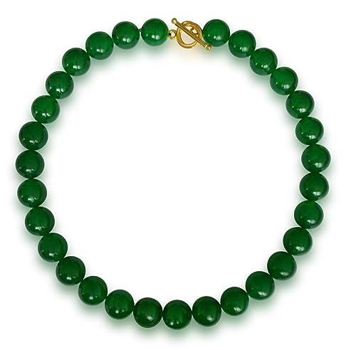 l'atteggiamento migliore b0532 384a1 Vifaleno - Collana in Giada Malaysia, 12 mm, Colore: Verde ...