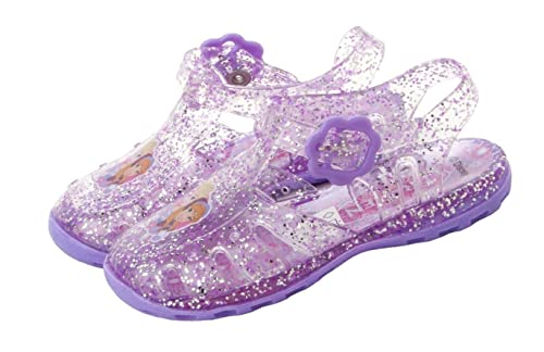 01b24dc9abbe Disney Girls Frozen Lilac Glitter Jelly Sandals - Kids Summer Beach Jellies   Amazon.co.uk  Shoes   Bags