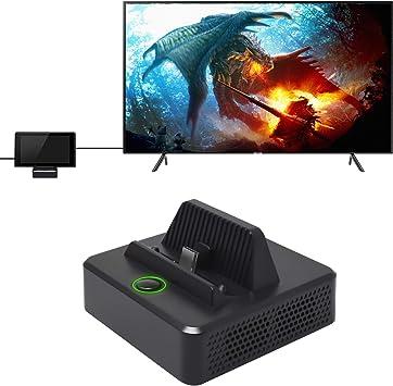 FASTSNAIL estación de Acoplamiento para Nintendo Switch, Cargador de Base de Carga portátil Compatible con Nintendo Switch 1080P HDMI Adaptador Consola de Soporte y Modo TV: Amazon.es: Electrónica