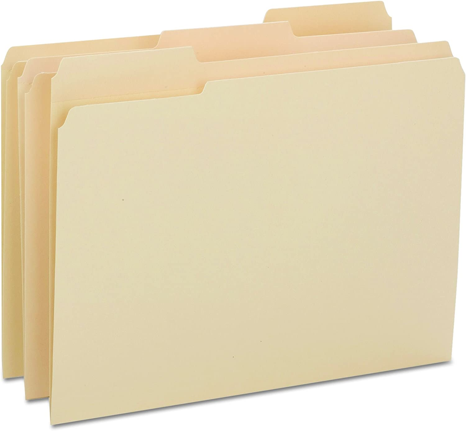 Smead Heavyweight File Folder, Reinforced 1/3-Cut Tab, Letter Size, Manila, 100 Per Box (10434)