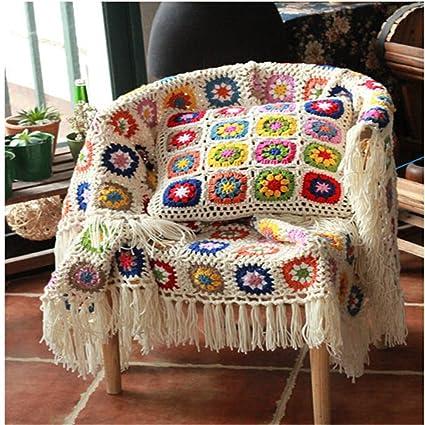 Amazon Com Handmade Sofa Cover Crochet Blanket Knitted Sofa