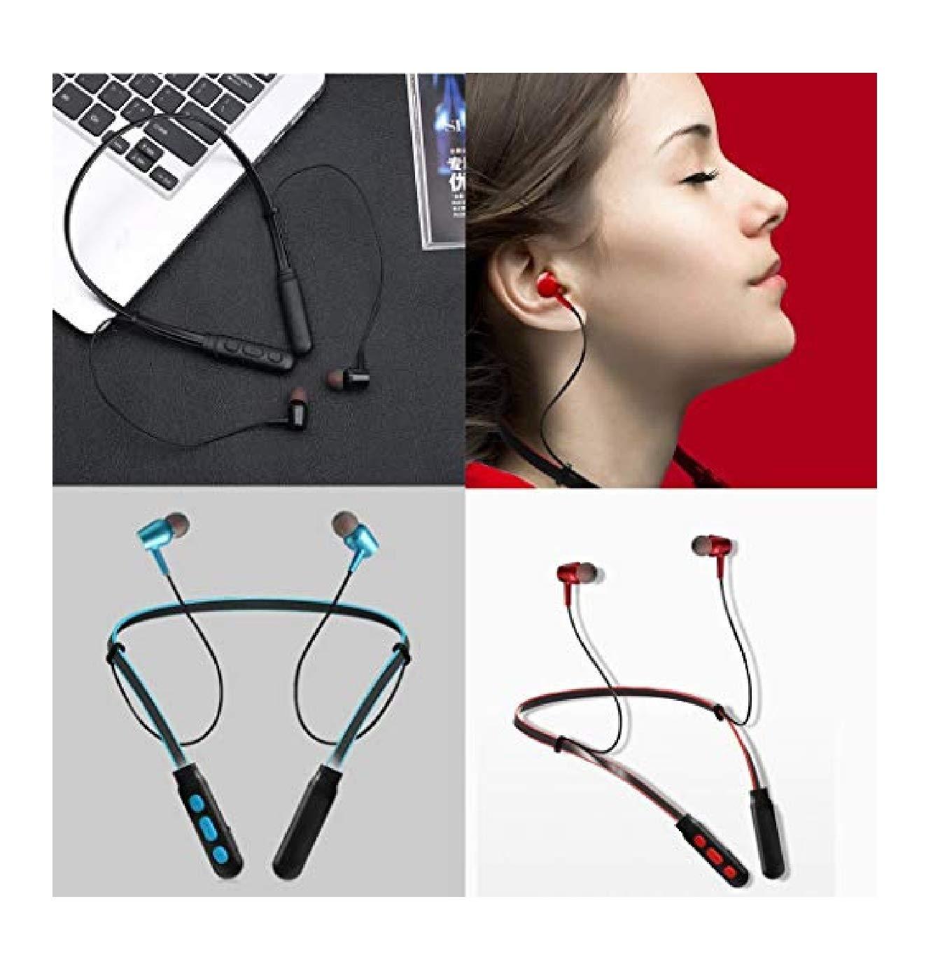 dozenla New Wireless Bluetooth Neckband Magnetic Hand-Free in-Ear Earphone Earbud Headphones