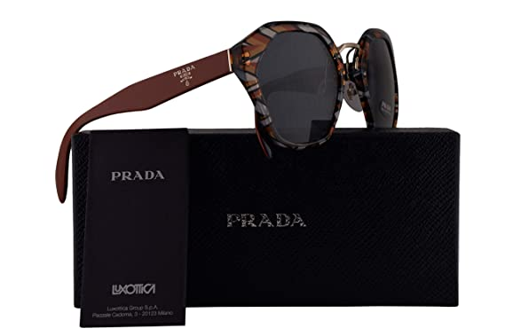 964df66ccd975 Image Unavailable. Image not available for. Color  Prada PR04TS Sunglasses  Orange Blue Black White w Grey Blue 55mm Lens ...