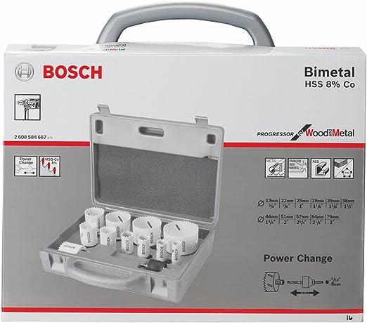 Bosch 2608584667 Coffret Scie Cloche 14 Pieces 19 22 25 29 35 38 44 51 57 64 76 Mm Amazon Fr Bricolage