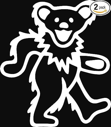 Amazoncom Angdest Grateful Dead Bear White Set Of 2 Premium