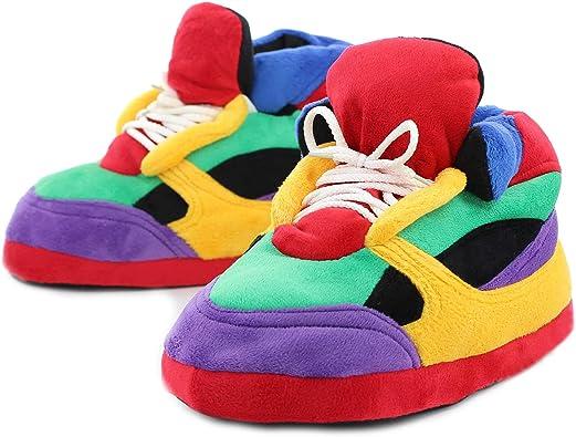 Sleeperz - Zapatillas de casa Originales y Divertidas de Hombre y Mujer - Rainbow: Amazon.es: Zapatos y complementos