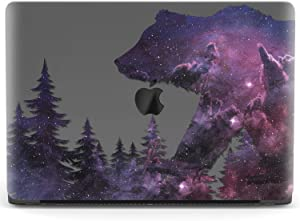 Mertak Hard Case for Apple MacBook Pro 16 Air 13 inch Mac 15 Retina 12 11 2020 2019 2018 2017 Animal Galaxy Space Forest Silhouette Design Touch Bar Shell Cover Protective Laptop Bear Print Plastic
