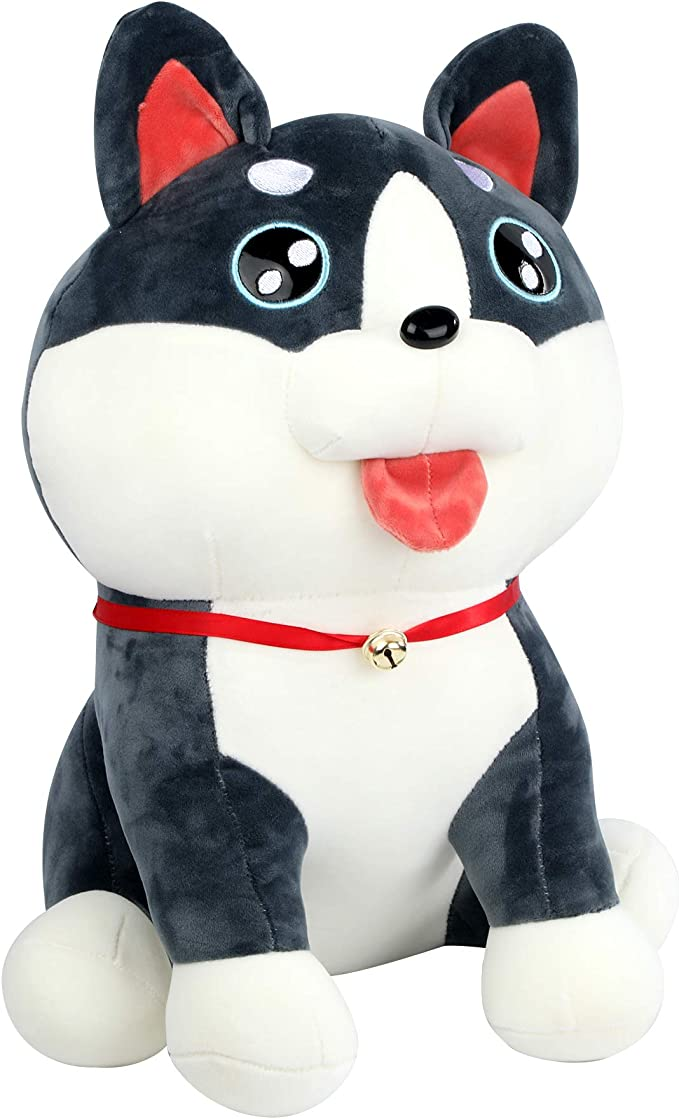 Husky Plush Toys Soft Novelty Cute Doll Toy Presents Gifts for Adults Kids Boys and Girls Home Bedroom Sofa DecorationChild Birthday Present