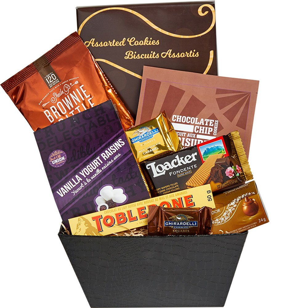 Amazon gourmet gifts grocery gourmet food chocolate gifts all about the basket a sweet gift basket of gourmet treats and snacks perfection negle Gallery