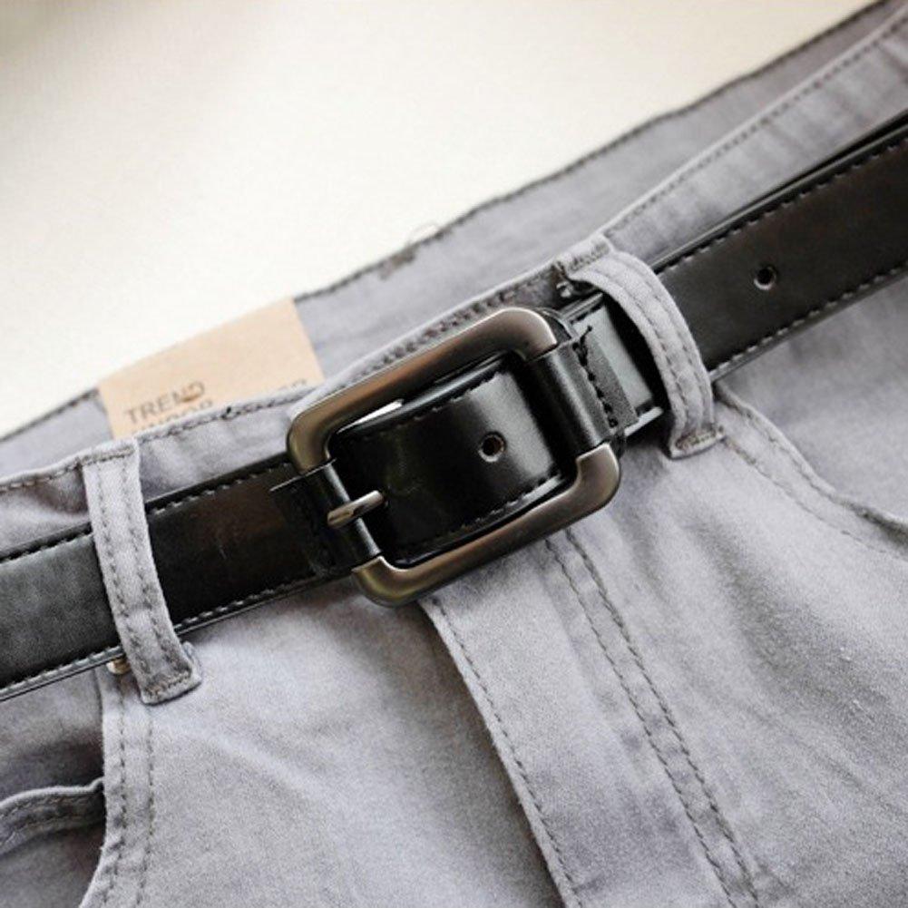 BeneAlways Super Soft PU Belt Casual Dress Jean Belt With Classic Buckle For Men