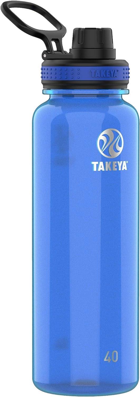 Takeya Tritan Sports Water Bottle with Spout Lid, 40 oz, Royal