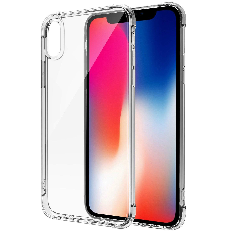 iPhone X/iPhone Xsのケースと互換性がある電話ケース、超薄型の透明で柔らかいTPUカバー、[サポートワイヤレス充電]スリムフィットクリスタルクリアケース滑り止め、衝撃吸収 - 1017023   B07JG1HNZ3