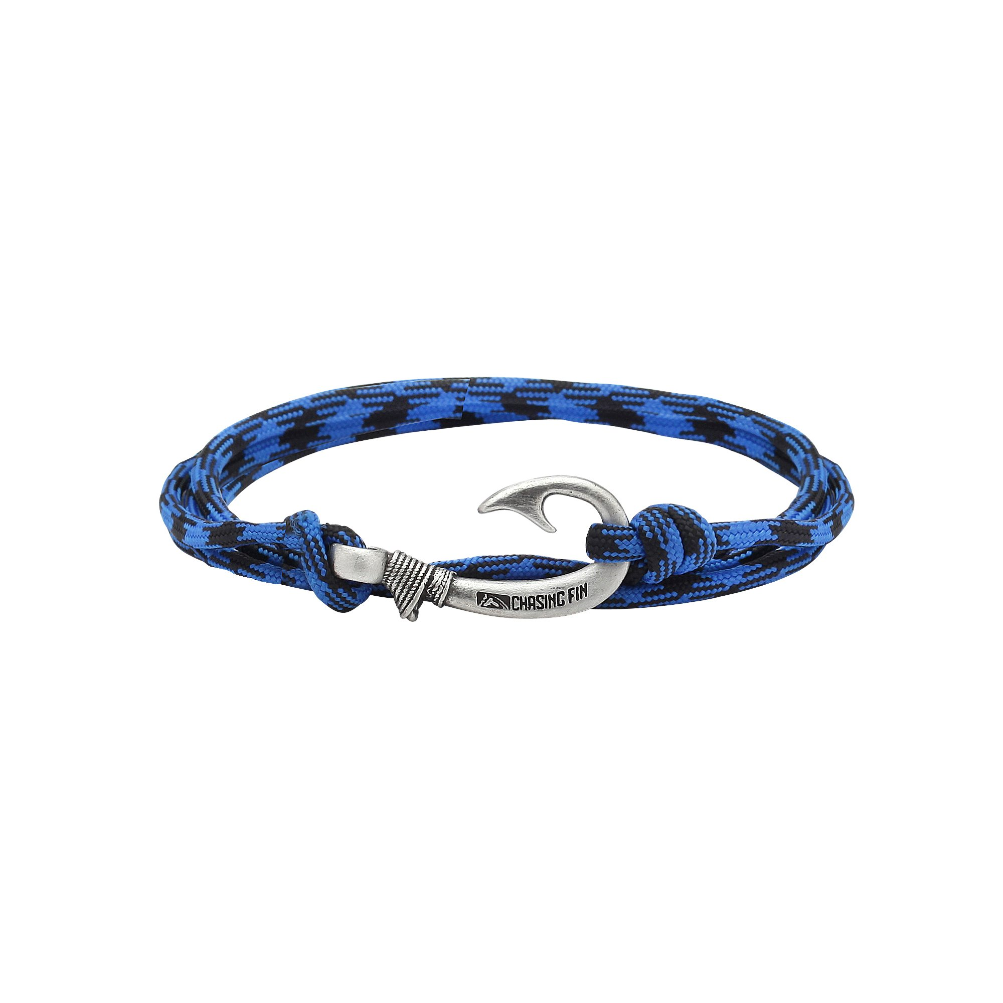 Chasing Fin Adjustable Bracelet 550 Military Paracord with Fish Hook Pendant, Bruiser