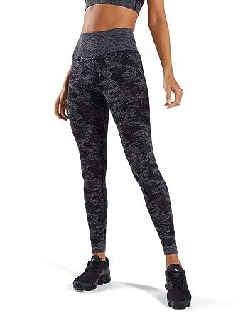 9cd3fbfc6eedf7 Amazon.com: MOYOOGA Womens High Waisted Camo Seamless Leggings Gym Capri  Tight Yoga Pants 7/8-Length: Clothing