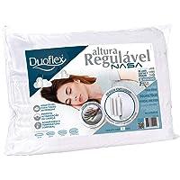 Travesseiro Altura Regulável Nasa, Duoflex, 100% Algodão, Branco, para Fronha 50Cmx70Cm