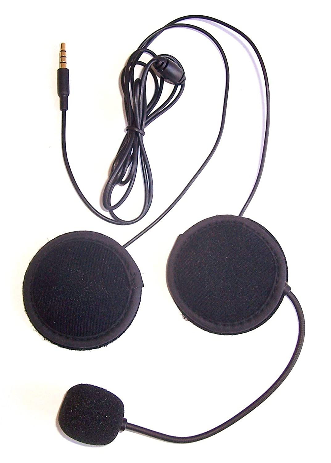Amazon.com: KOKKIA Sports compatible Motorcycle Helmet Stereo Earphones + Microphone (Black cables) to iPods/iPhones/iPads/Music/Audio devices with 3.5mm ...