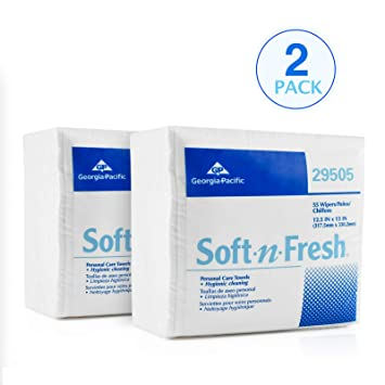 Georgia Pacific 29505 Soft-n-Fresh Personal Care Disposable Wash Cloths | Safe for