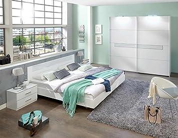 Schlafzimmer 5teilig, Schrank 5türig, Bett 180x200, Truhe, 2 ...