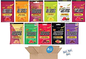 Jelly Belly Sport Beans Variety Gift Box – Strawberry Banana Smoothie, Lemon Lime, Orange, Fruit Punch, Berry, Assorted, Cherry Ext, Watermelon Ext, Pomegranate Ext, Assorted Ext, Smoothie Ext