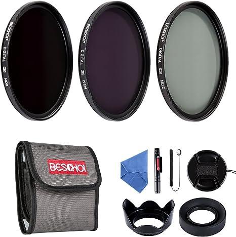 BESCHOI - 58mm Lente Filtro, Packs de Filtros Fotográficos para ...