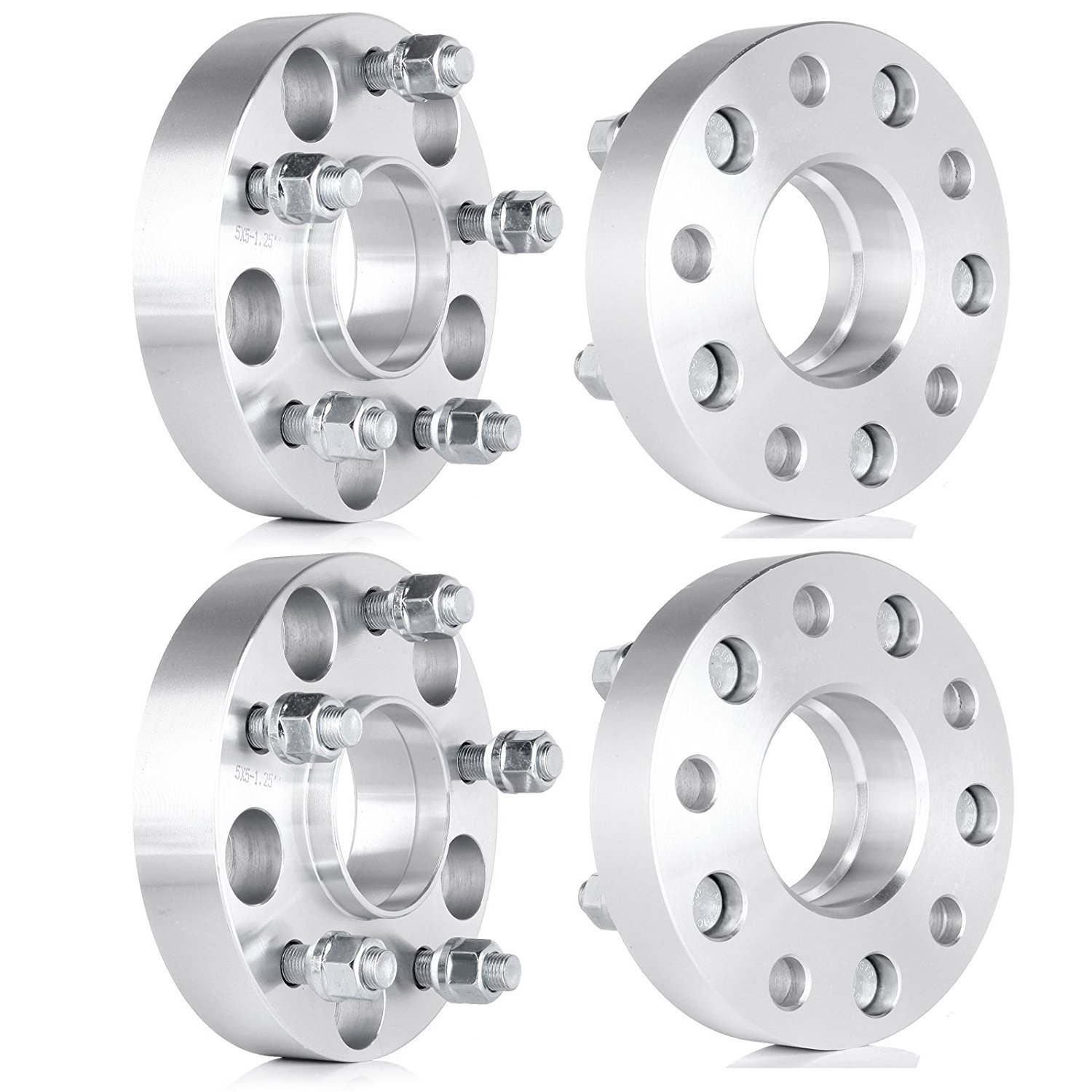ECCPP 5 Lug Hub Centric Wheel Spacers 1.25 inch 5x4.5 to 5x4.5 5x114.3 to 5x114.3 70.5 Fit for Ford Mustang Edge Crown Victoria 1//2 Studs 4X