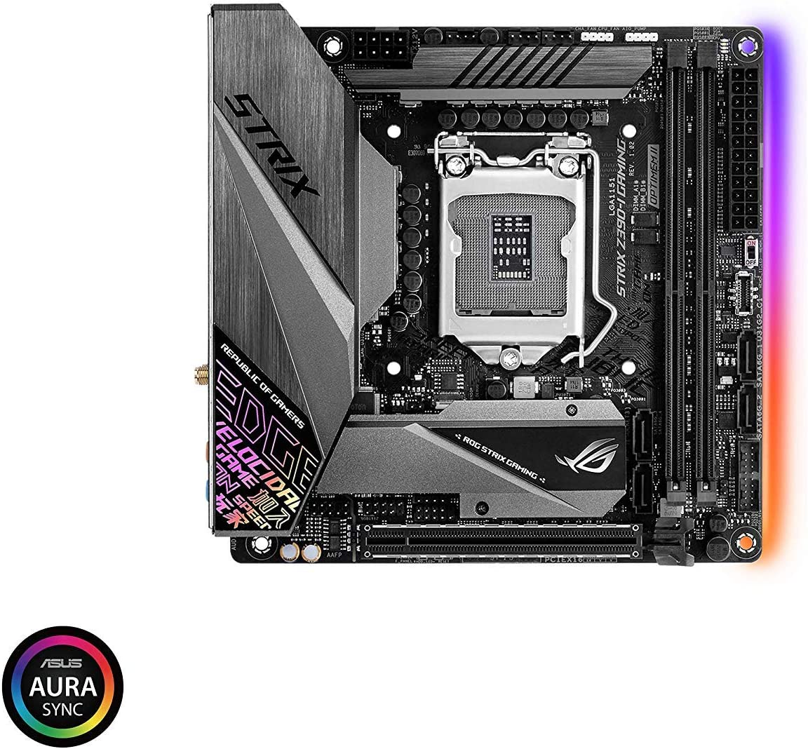 ASUS ROG Strix Z390-I Gaming LGA1151 (Intel 8th and 9th Gen) Mini ITX (MITX) DDR4 DP HDMI M.2 USB 3.1 Gen2 Motherboard