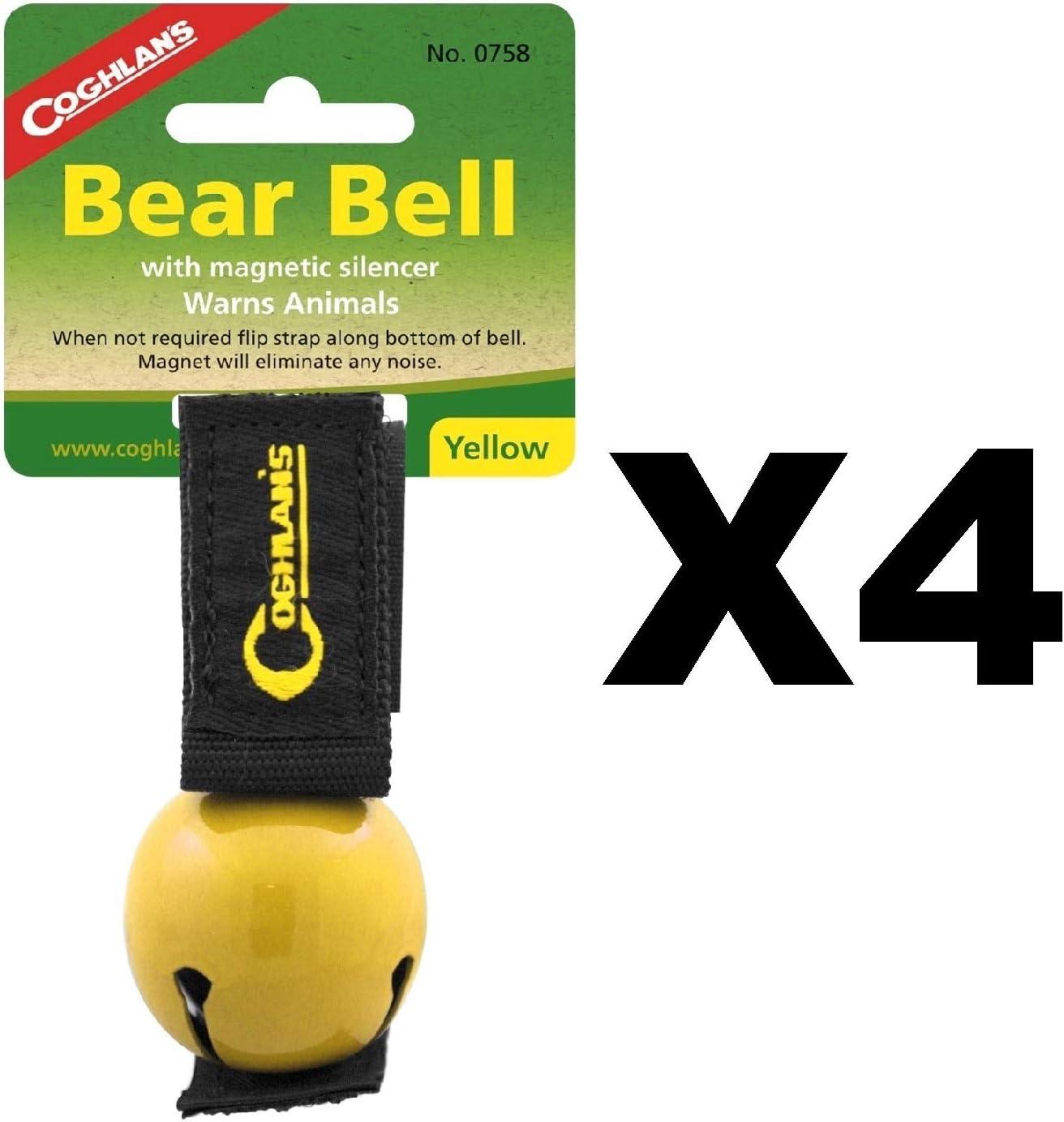 Hiking Bear Bell Magnetic Silencer Loop Strap Outdoor Bear Bell Coghlans