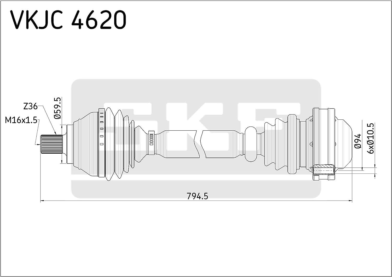 Antriebswelle für Radantrieb Vorderachse SKF VKJC 4620