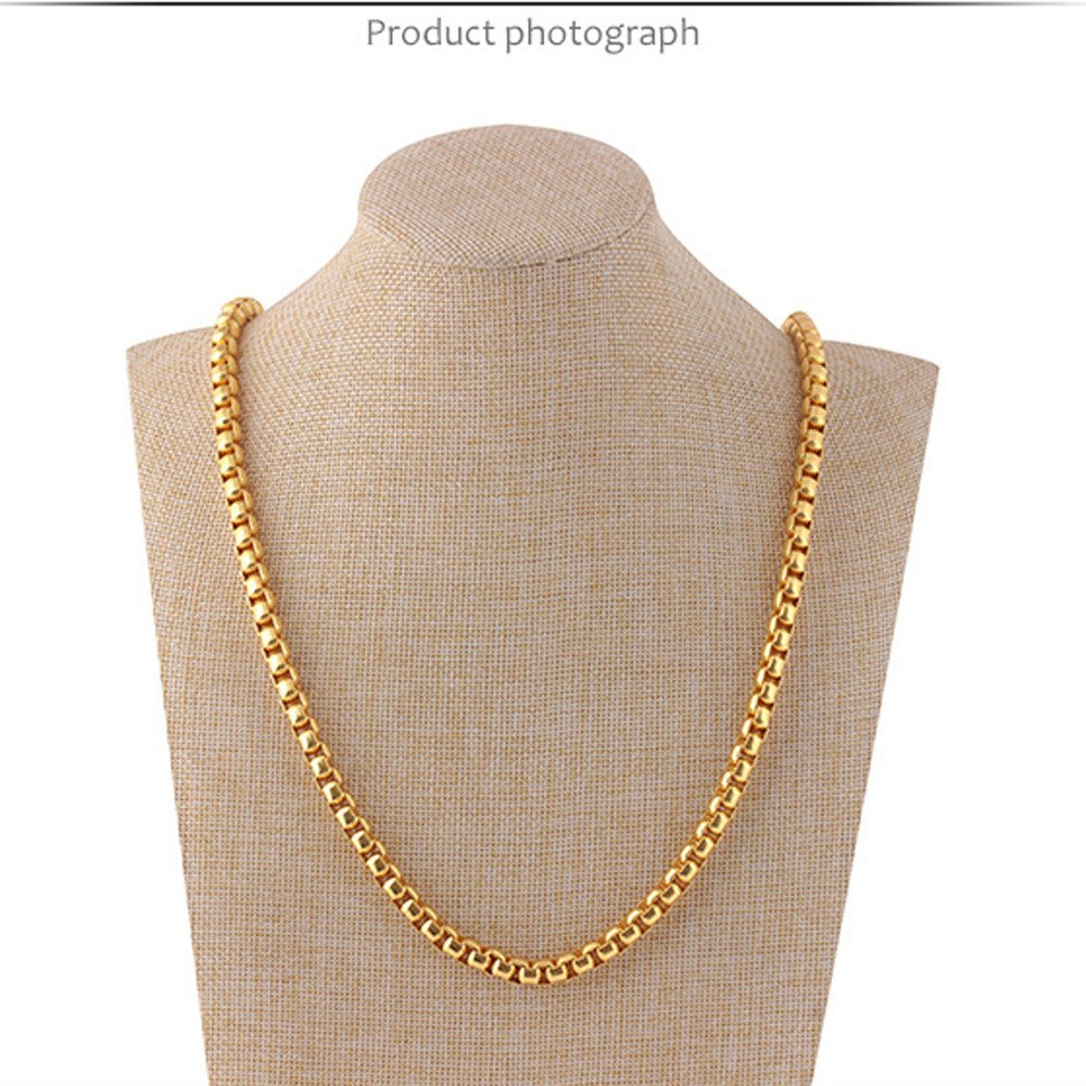 Ciyoon Necklace for Women Girl Lady Classical Fashion Luxury Jewerly Yellow Gold Plated Necklace