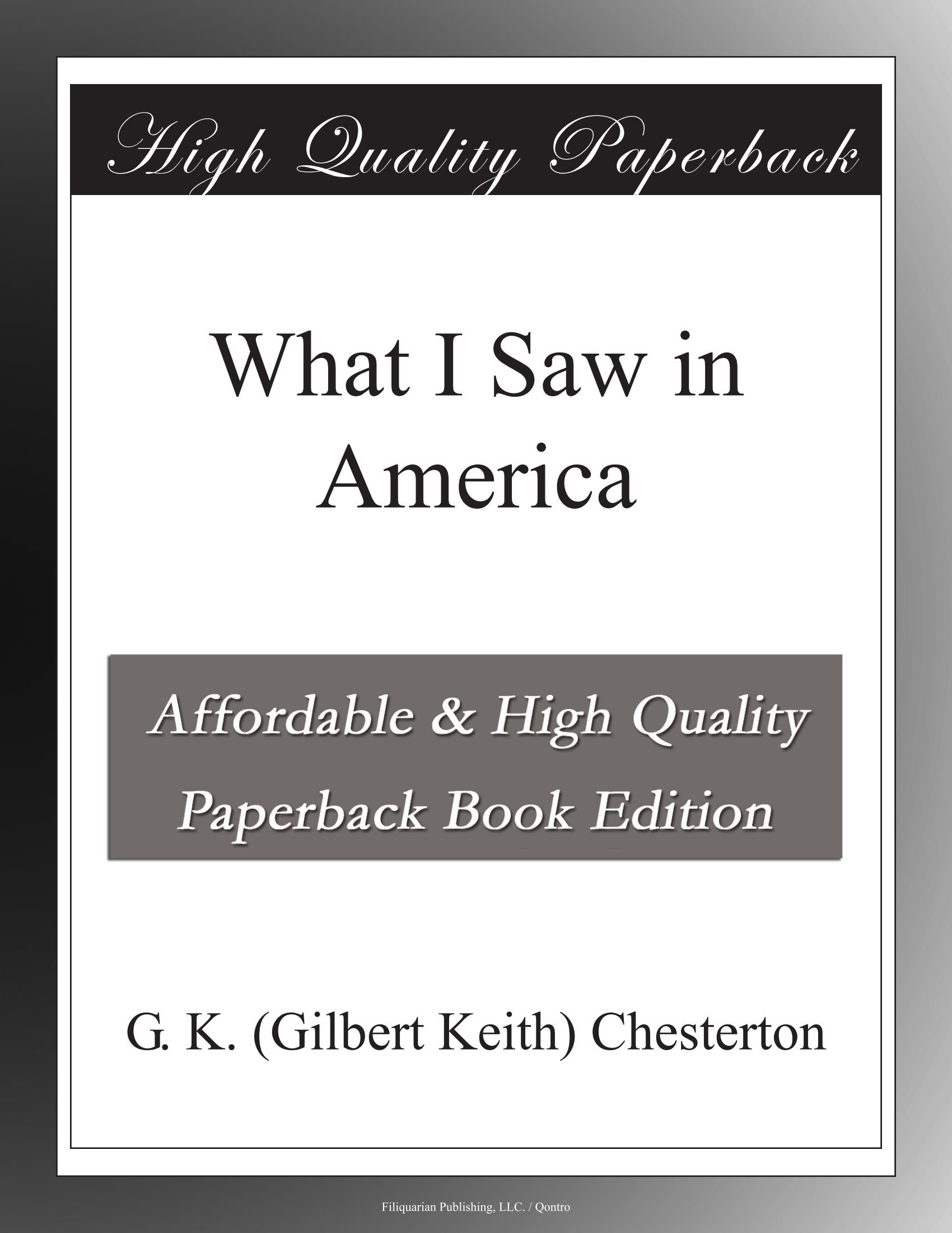 Download What I Saw in America ebook
