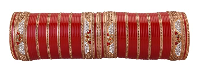 Charitable Red Designer Chura Bridal Dulhan Wedding Punjabi Choora Bridal & Wedding Party Jewelry free Shipping Engagement & Wedding