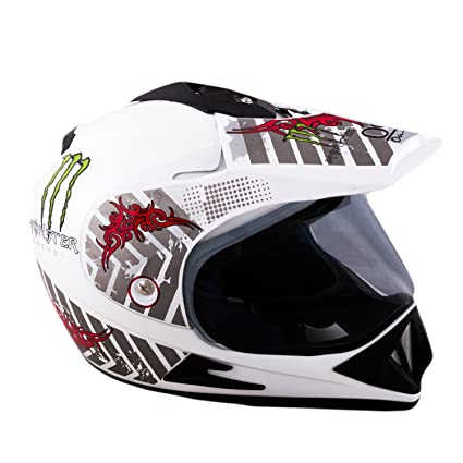 97f4bdb3 Autofy O2 On Road Full Face Motorcross Helmet With Tinted Visor (White,M):  Amazon.in: Car & Motorbike
