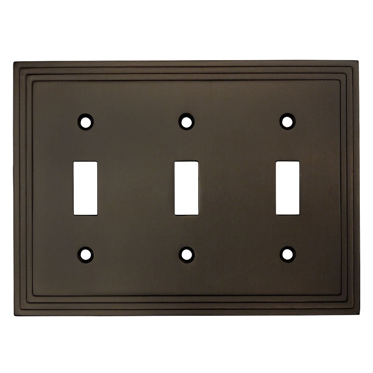 Cosmas 25037-ORB Oil Rubbed Bronze Triple Toggle Switchplate Wall Switch Plate Cover