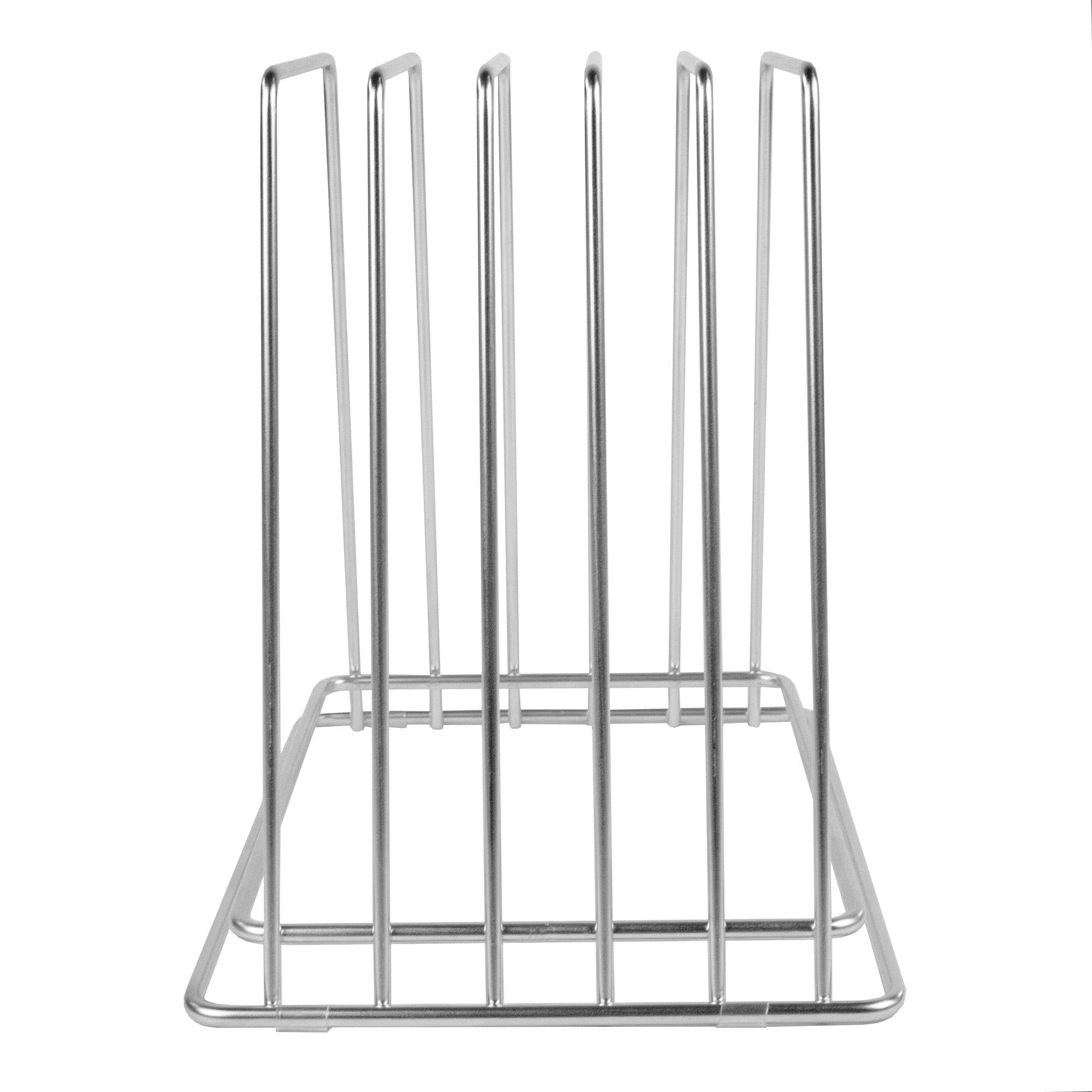Professional Kitchen Cutting Board Organizer, Stainless Steel Rack NSF Fits Baking Sheets by Thirteen Chefs