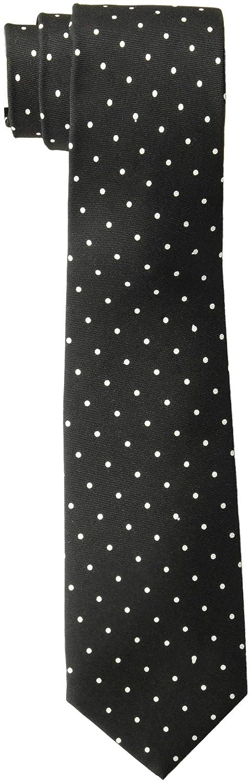 Theory Men's Roadster Pola Dot Print Tie, Black/Multi 1SZ I0872001